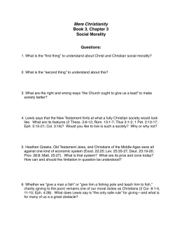 Chapter 3 Questions - Richland Alliance Church