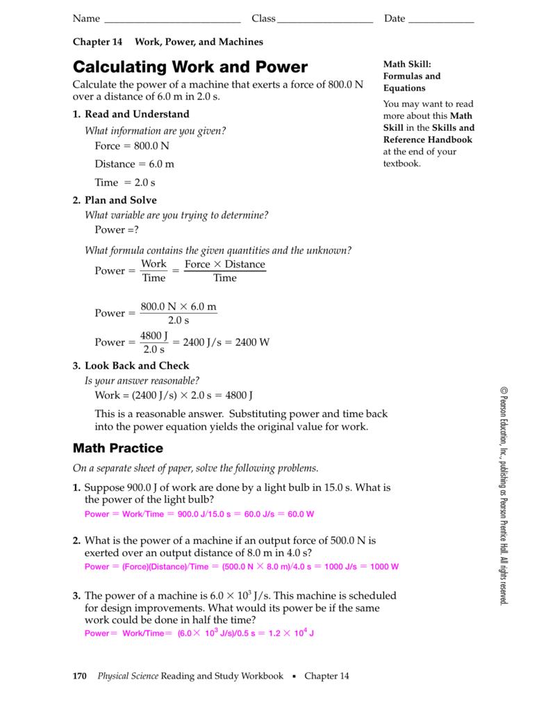 Chapter 14 Math Skills