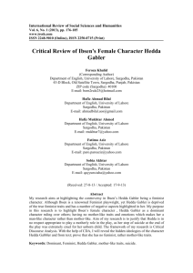 Critical Review of Ibsen's Female Character Hedda Gabler