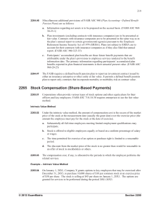 2265 Stock Compensation (Share-Based Payments)