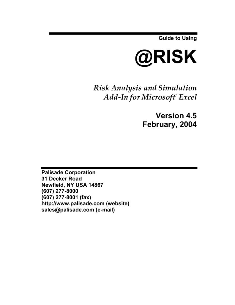 What Is Risk? - Program @RISK