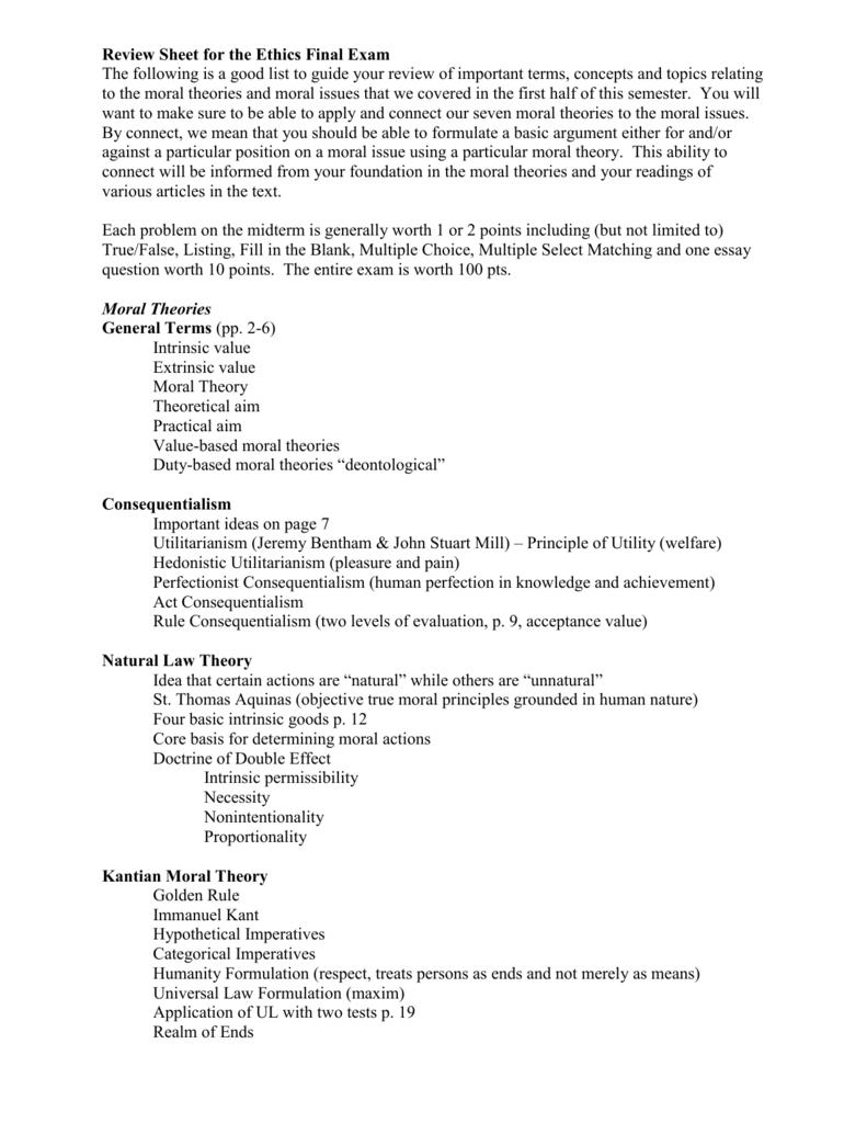 doctrine of double effect essay