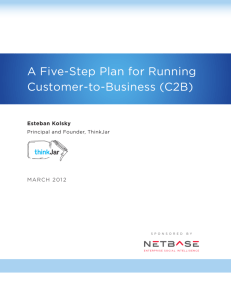 A Five-Step Plan for Running Customer-to