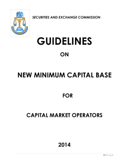 Guidelines on New Minimum Capital Base for Capital Market