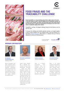 food fraud and the traceability challenge