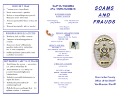 SCAMS AND FRAUDS