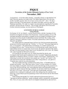 NOV 2003 - Secular Humanist Society of New York