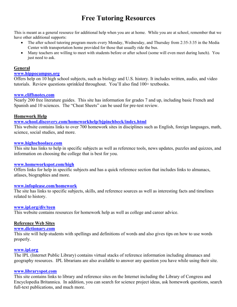 college english help websites