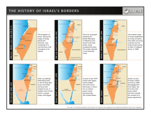 the history of israel's borders