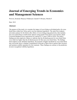 Journal of Emerging Trends in Economics and Management Sciences