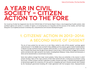 A year in civil society – Citizen action to the fore