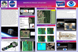 BISONSAT IMAGE ANALYSES Presenter: Noel Stewart B.S.