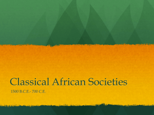 Classical African Societies