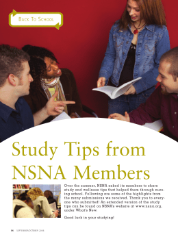 Study Tips from NSNA Members - National Student Nurses