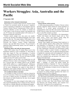 Workers Struggles: Asia, Australia and the Pacific