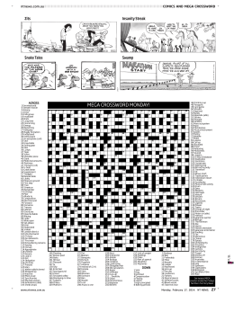 MEGA CROSSWORD MONDAY!