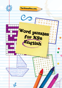Word puzzles for KS2 English - Boston St Mary's RC Primary School