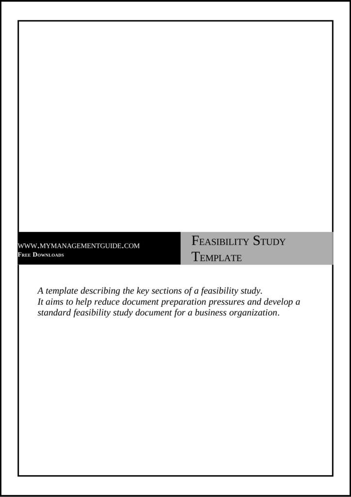 Feasibility study template free accmission Gallery
