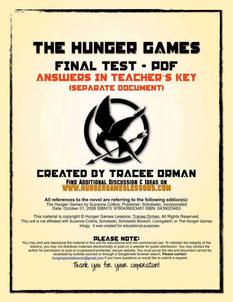 Hunger Games Novel Pdf