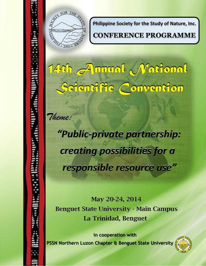 14th Scientific National Conference, Benguet State