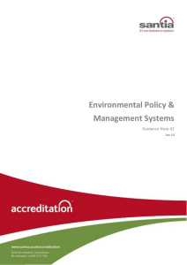 Environmental Policy & Management Systems