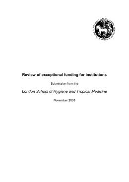 Review of exceptional funding for institutions London School of