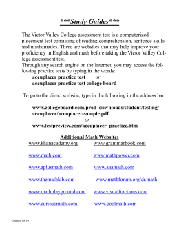 Study Guides - Victor Valley College