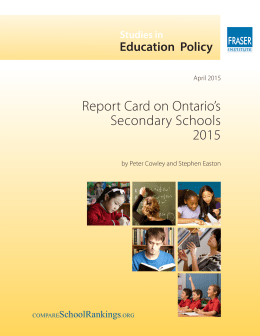 Report Card on Ontario's Secondary Schools 2015