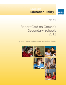 Report Card on Ontario's Secondary Schools 2012