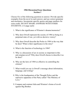 analysis essay doc 1984 discussion essay questions i