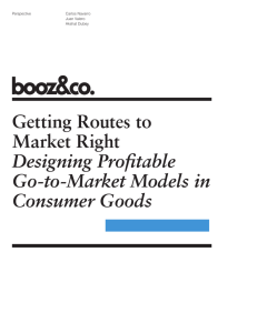 Getting Routes to Market Right Designing Profitable Go-to