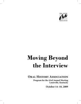 Moving Beyond the Interview