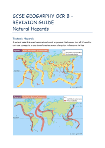 REVISION GUIDE Natural Hazards