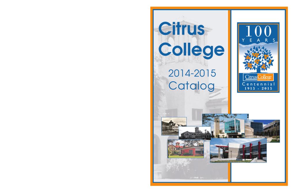college catalog - Citrus College
