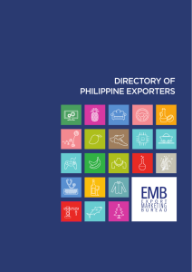 directory of philippine exporters - Export Marketing Bureau