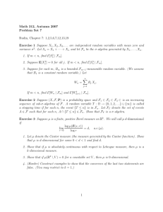 Math 312, Autumn 2007 Problem Set 7 Rudin, Chapter 7: 1,2,5,6,7