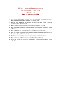 ICS 434 - Advanced Database Systems Due: 12 November 2001