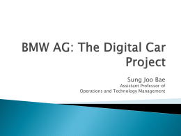 BMW AG: The Digital Car Project