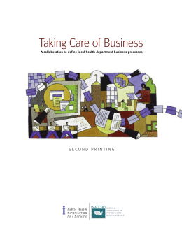 Taking Care of Business: A Collaboration to Define Local Health
