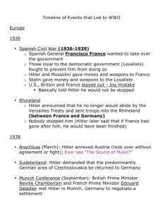 WWII: Events that led to start of war