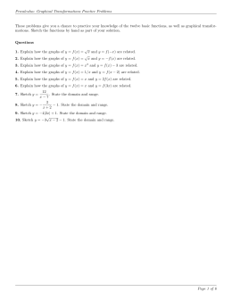 Precalculus: Graphical Transformations Practice Problems