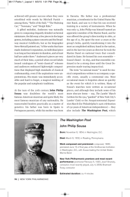 The Washington Post John Philip Sousa