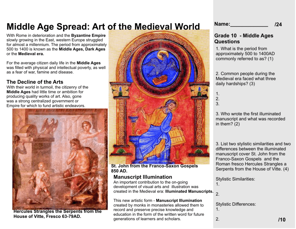 medieval art examples