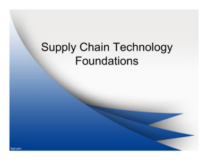 Supply Chain Technology Foundations