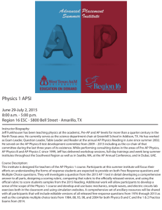 Physics 1 APSI