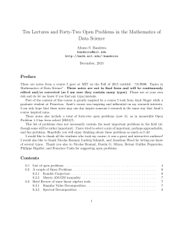 Ten Lectures and Forty-Two Open Problems in
