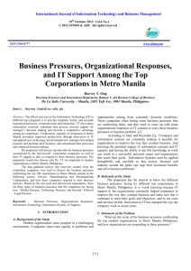 Business Pressures, Organizational Responses