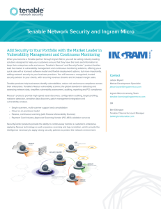 Tenable Network Security and Ingram Micro