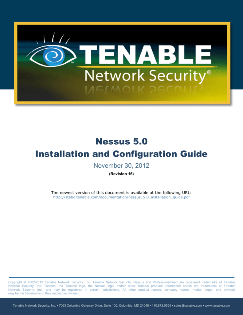 Nessus 50 Installation And Configuration Guide