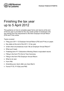 Finishing the tax year
